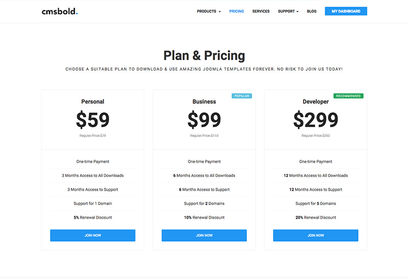 New pricing Model