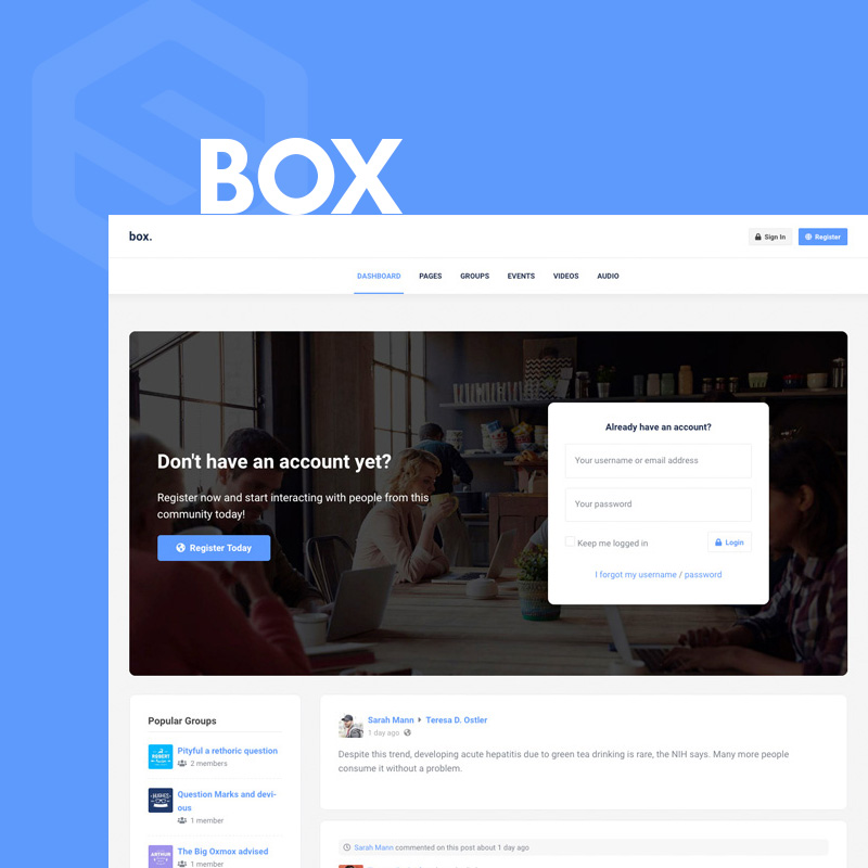 Box - EasySocial theme