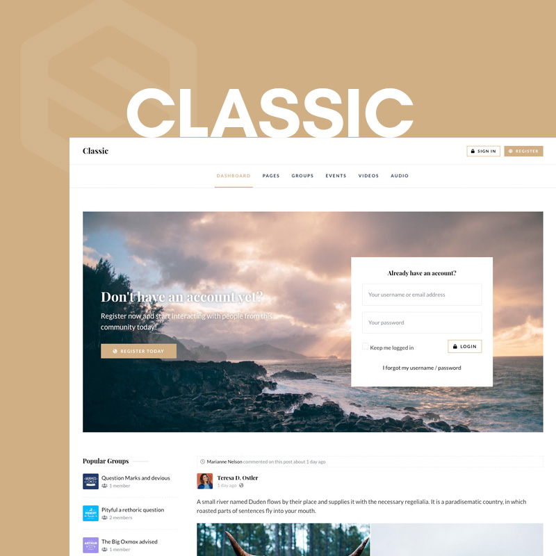Classic - EasySocial theme