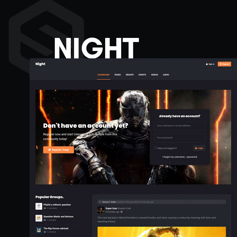 Night - EasySocial theme
