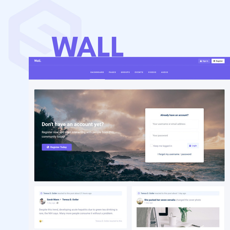 Wall - EasySocial theme