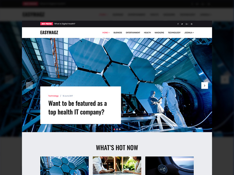 Responsive News and Magazine Joomla template